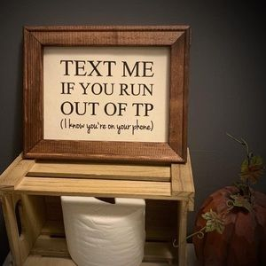 Text for toilet paper 8x10 frame